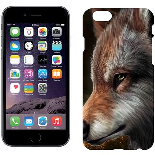 Apple iPhone 6Plus Design Back Cover Case -  Art Wolf Graphics Wool