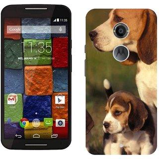 Motorola MOTO X2 Design Back Cover Case - Og Puppy Grass Sit