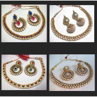 Combo Offer of multi colour necklace set