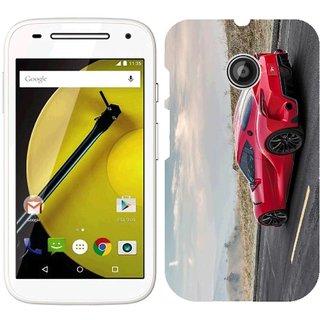 Motorola MOTO E Design Back Cover Case - Yota Ft 1 Red Machine Side View 101261 9