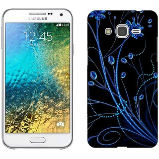 Samsung E5 E5000 Design Back Cover Case - Olors Patterns Blue Black Background