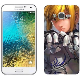 Samsung E5 E5000 Design Back Cover Case - Ate Stay Night Girl Armor