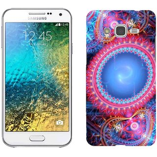 Samsung E5 E5000 Design Back Cover Case - Ractal Patterns Lines Curves Circles Background