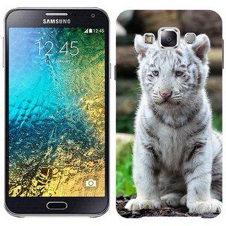 Samsung E7 E7000 Design Back Cover Case - Hite Tiger Tiger Tiger Cub Cat Wild Cat Predator