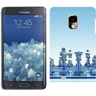 Samsung Galaxy Note Edge Design Back Cover Case -  Black Chess Board Party Glass