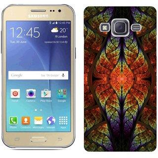 Samsung J2 Design Back Cover Case - Ght Patterns Lines Ovals