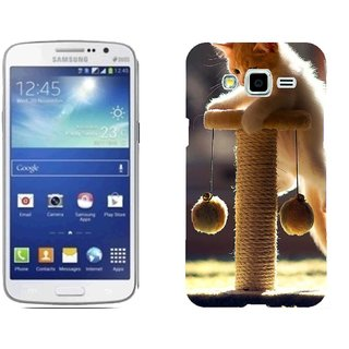 Samsung Grand 2 G7106 Design Back Cover Case - Ack Kitten Playful Scratching Post Climbing
