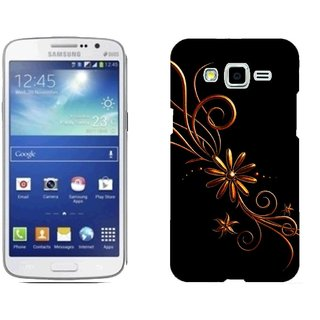 Samsung Grand 2 G7106 Design Back Cover Case - Ack Patterns Dark Background Black