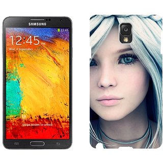 Samsung Note3 N9006 Design Back Cover Case - K 3D Rendering Girl Face Art
