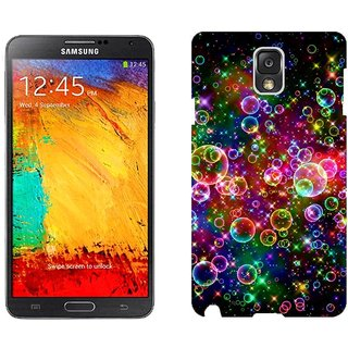 Samsung Note3 N9006 Design Back Cover Case - K Bubbles Colorful Bright