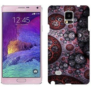 Samsung Note4 N9108 Design Back Cover Case - K Background Surface Light