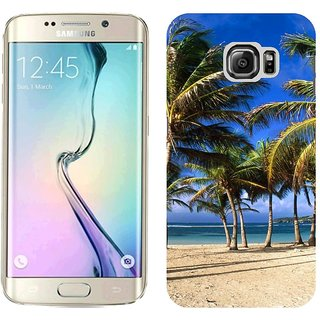 Samsung S6 Edge G9250 Design Back Cover Case - Ack Palm Trees Coast Sea India