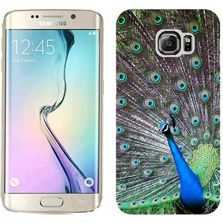 Samsung S6 Edge G9250 Design Back Cover Case - Ack Peacock Bird Tail Male Patterns Posture