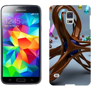 Samsung S5 G9008V Design Back Cover Case - Metal Multicolored Balloons Shape Bright Lots