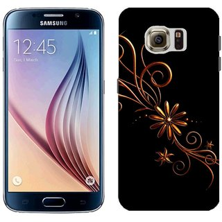Samsung S6 G9200 G9208 Design Back Cover Case - Lack Patterns Dark Background Black