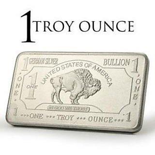 Rare USA American Buffalo / Bison 1Troy Ounce fine silver Proof bullion Art Bar