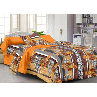 Ahem Homes Mustard Single Bedsheet With Pillow Cover(FY1204-AH)