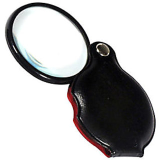 FOLDING POCKET 2 GLASS LENS JEWELERS LOUPE MAGNIFIER MAGNIFYING FOLDING POCKET