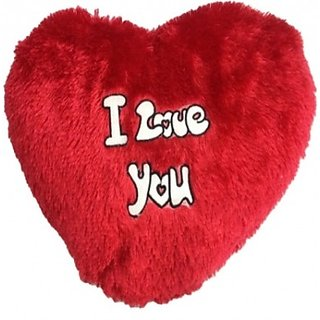 Chinmayi I Love You Heart Pillow, For Your Loved Ones.Crafted With Love - 45 Cm (Red)