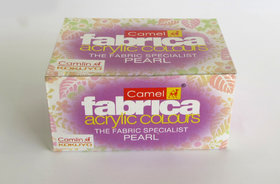 Camlin Fabrica Acrylic Pearl Colours - 10ml, 6 Shades Pack of 4
