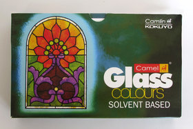 Camlin Solvent Based Glass Colour - 20ml, 5 Shades Pack of 2