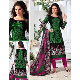 New Fashion Exclusive Design fancy Printed Cotton Dress material (C6)