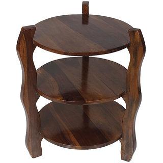 DECORINK LA FLAVIA END TABLE - Sheesham Wood - Walnut Finish