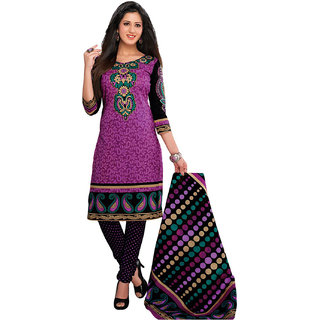 Jevi Prints Purple Unstitched Punjabi Suit With Dupatta (Rtc-623)