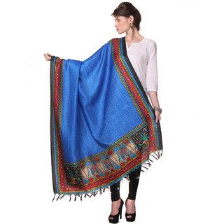 Varanga  Blue Designer Bhagalpuri Silk Dupatta BG014