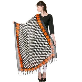 Varanga  Black Designer Bhagalpuri Silk Dupatta BG017