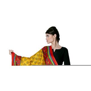 Varanga  Yellow Designer Bhagalpuri Silk Dupatta BG023