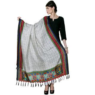 Varanga  Gray Designer Bhagalpuri Silk Dupatta BG026