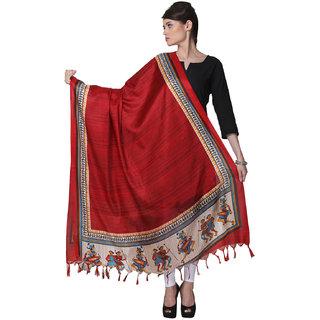 Varanga  Red Designer Bhagalpuri Silk Dupatta BG027
