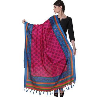 Varanga  Pink  Blue Designer Bhagalpuri Silk Dupatta BG028