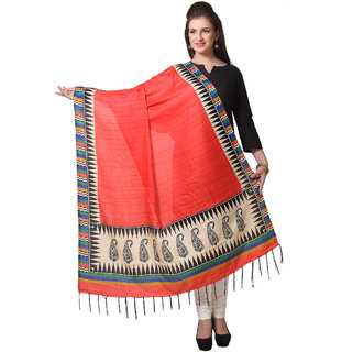 Varanga  Red Designer Art Silk Dupatta BG038