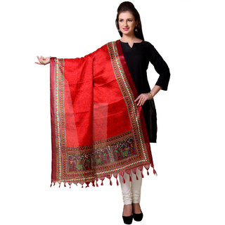 Varanga  Maroon Designer Art Silk Dupatta BG039