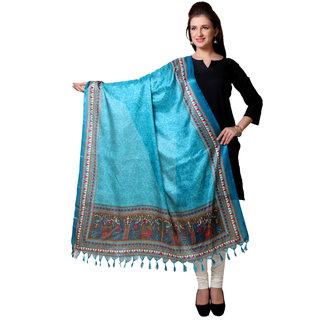 Varanga  Blue Designer Art Silk Dupatta BG040
