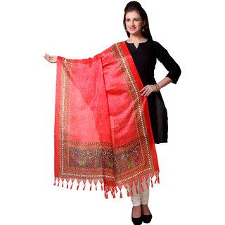 Varanga  Red Designer Art Silk Dupatta BG041