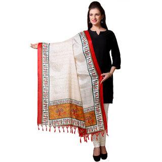 Varanga  Beige Designer Art Silk Dupatta BG043