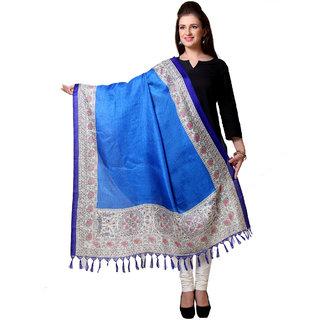 Varanga  Blue Designer Art Silk Dupatta BG049