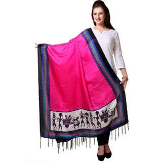 Varanga  Pink Designer Art Silk Dupatta BG052