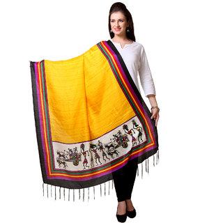 Varanga  Yellow Designer Art Silk Dupatta BG054