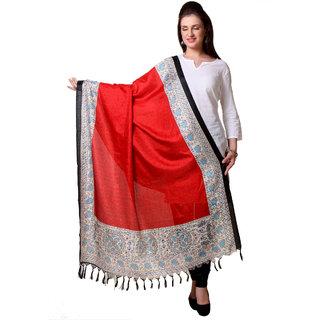 Varanga  Red  Beige Designer Art Silk Dupatta BG057
