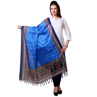 Varanga  Blue Designer Art Silk Dupatta BG060