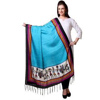 Varanga  Blue Designer Art Silk Dupatta BG064