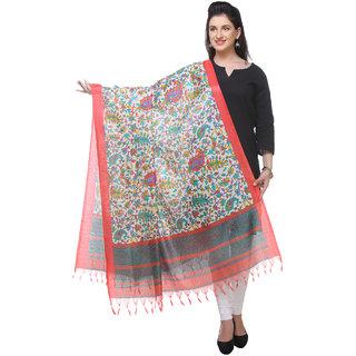 Varanga  pink Printed Bhagalpuri Silk Dupatta BG071