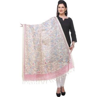 Varanga  off white  Printed Bhagalpuri Silk Dupatta BG073