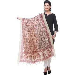 Varanga  beigered Printed Bhagalpuri Silk Dupatta BG094