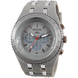 Exotica Fashions Men'Â's Watch (EF-01-GREY-PL)