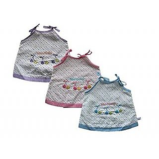 581785c7e Buy New Born baby girl cotton clothing - Pack of 3 Jabla frock for ...